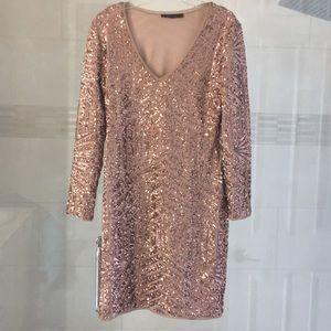 BCBG Maxazria sequined dress sz M